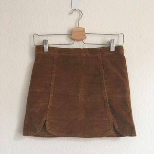 Raquel brown suede skirt